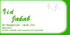 vid jakab business card